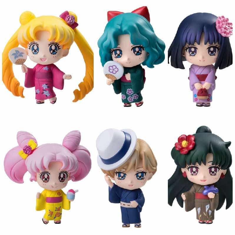 SAILOR MOON SOLDIERS OF THE OUTER SOLAR SYSTEM DISPLAY 6 FIGURAS 5.5 CM PETIT CHARA LAND
