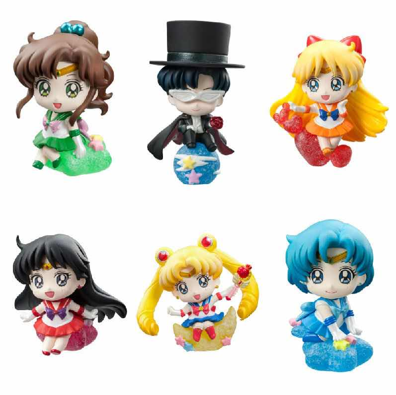 SAILOR MOON MAKE UP WITH CANDY! DISPLAY 6 FIGURAS 5.5 CM PETIT CHARA LAND