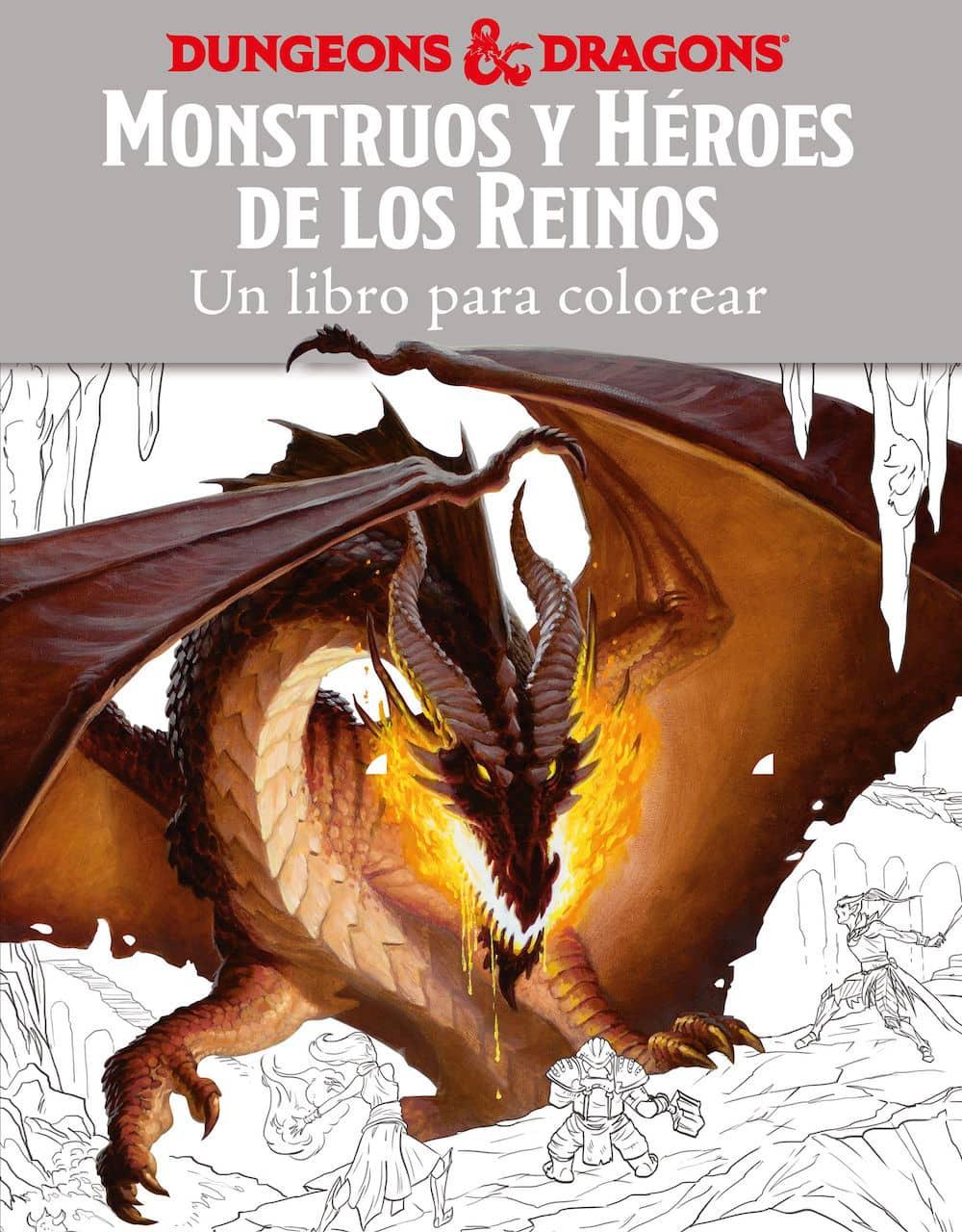 MONSTRUOS Y HEROES DE LOS REINOS. UN LIBRO PARA COLOREAR