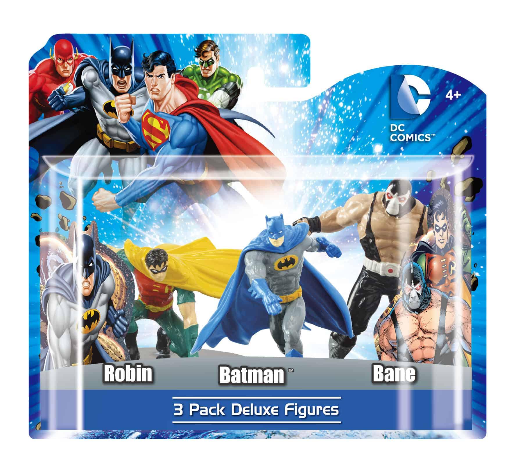 PACK A 3 FIGURAS 10 CM BATMAN, ROBIN Y BANE DC UNIVERSE