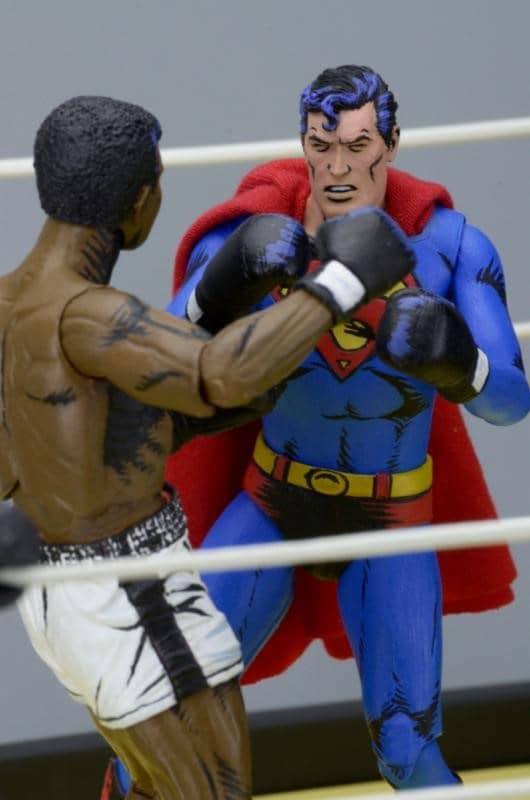 SUPERMAN VS MUHAMMAD ALI FIGURAS 18 CM 2 PACK