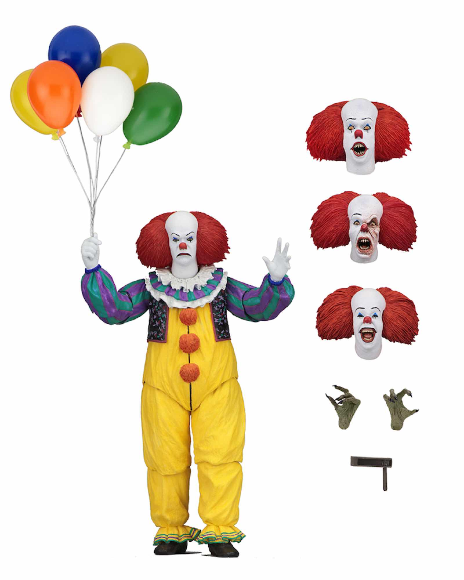 ULTIMATE PENNYWISE FIGURA 18 CM SCALE ACTION FIGURE IT 1990 MINISERIES