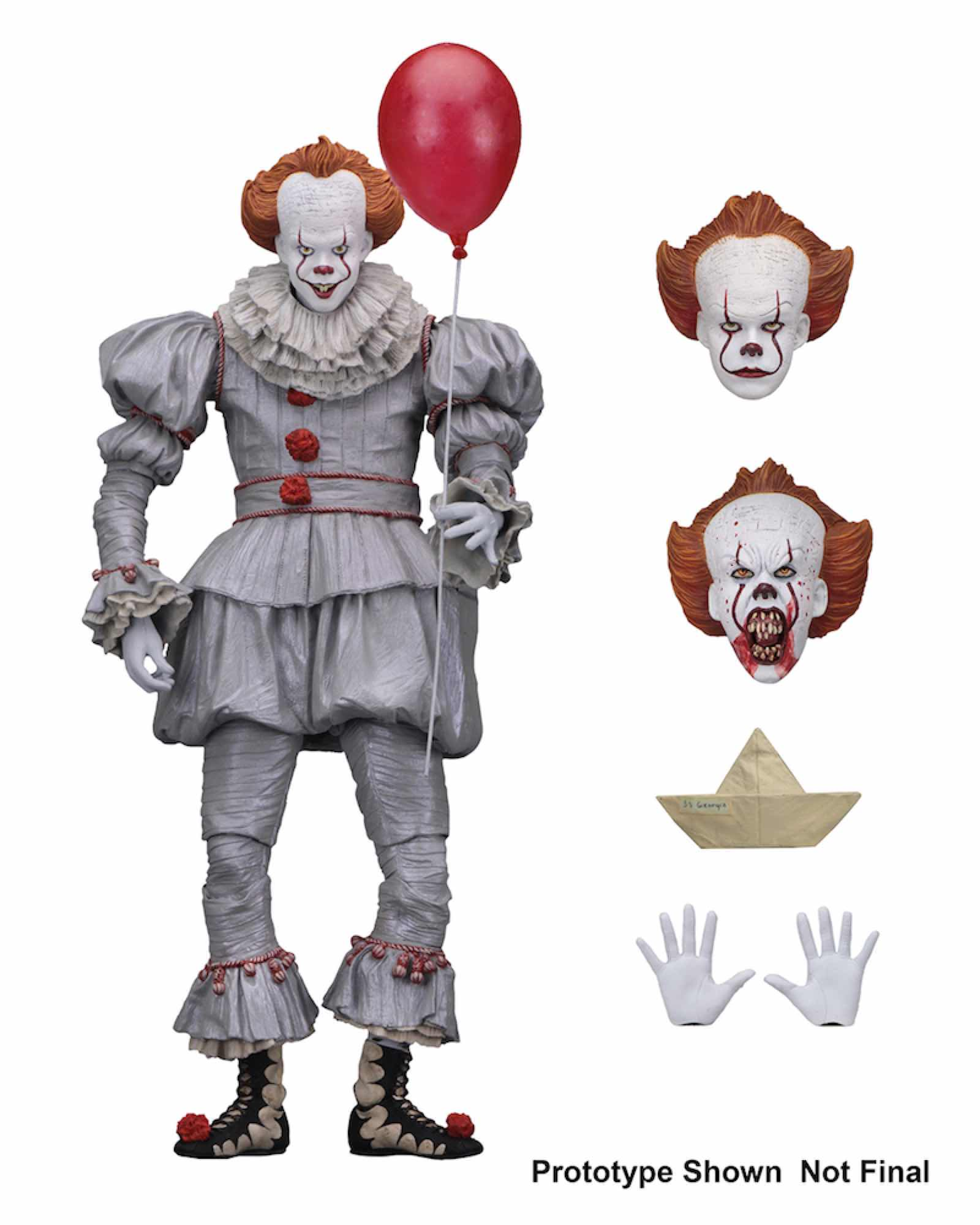 ULTIMATE PENNYWISE FIGURA 18 CM SCALE ACTION FIGURE IT 2017 MOVIE