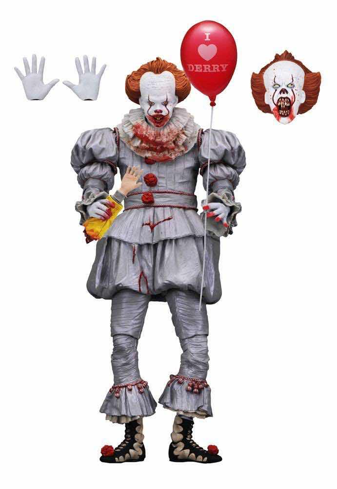 ULTIMATE PENNYWISE I HEART DERRY FIGURA 18 CM SCALE ACTION FIGURE IT 2017 MOVIE