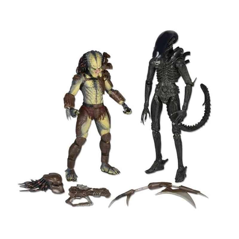 ALIEN VS PREDATOR SET CAJA 2 FIGURAS 18 CM CON COMIC