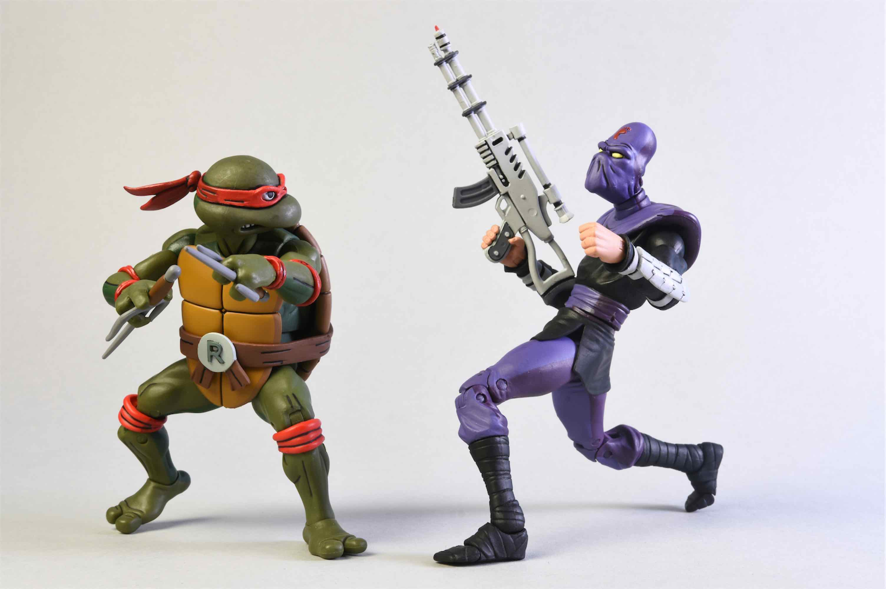 RAPHAEL & FOOT SOLDIER PACK 2 FIGURAS 18 CM SCALE ACTION FIGURE TMNT