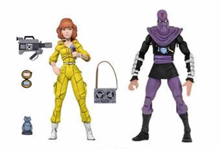APRIL O-NEIL & FOOT SOLDIER PACK 2 FIGURAS 18 CM SCALE ACTION FIGURE TMNT CARTOON SERIES 3