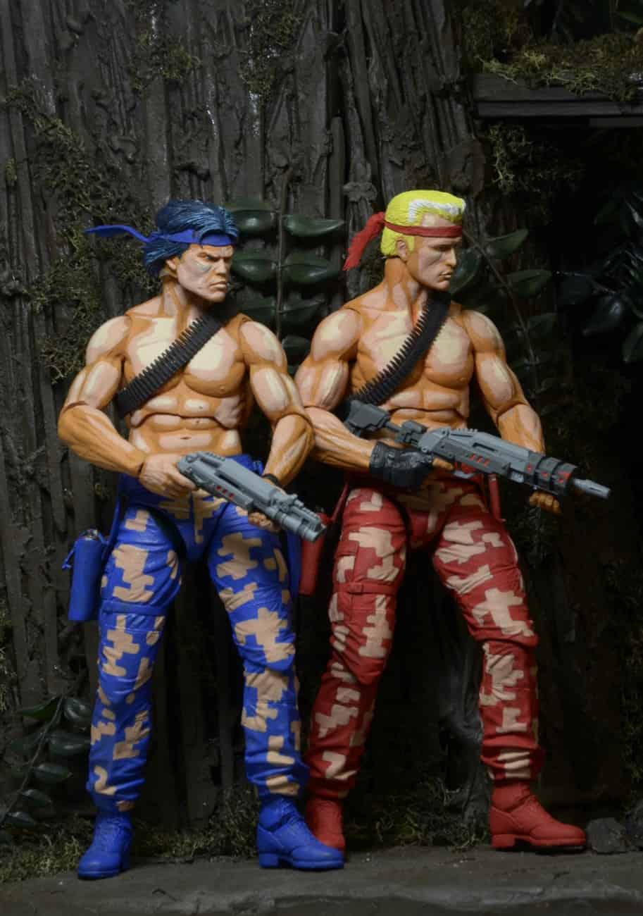 BILL Y LANCE PACK 2 FIGURAS 18 CM CONTRA VIDEOGAME