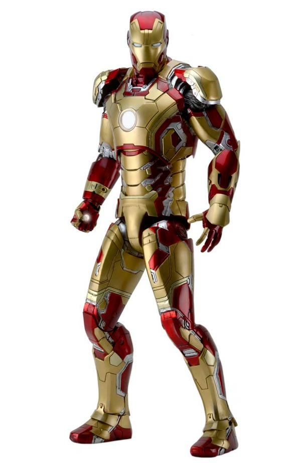 IRON MAN 3 ESCALA 1/4 MARK 42 CON LUZ FIGURA 45 CM MARVEL