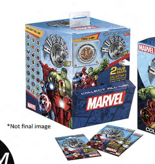 MARVEL CLASSIC UNIVERSE HUBSNAPS 60 SOBRES DISPLAY GRAVITY FEED SERIE 1