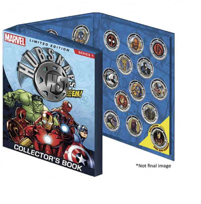 MARVEL CLASSIC UNIVERSE HUBSNAPS COLLECTOR BOOK SERIE 1