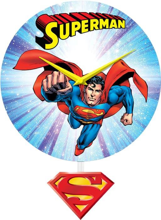 SUPERMAN RELOJ DE PENDULO DE PARED UNIVERSO DC