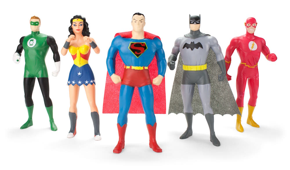 JUSTICE LEAGUE FIGURA FLEXIBLE PACK 5 THE NEW FRONTIER UNIVERSO DC