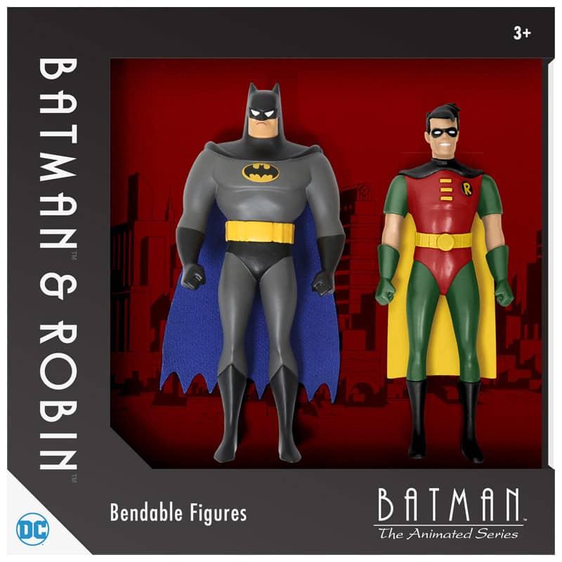 BATMAN Y ROBIN FIGURAS FLEXIBLES14 CM BATMAN THE ANIMATED SERIES UNIVERSO DC