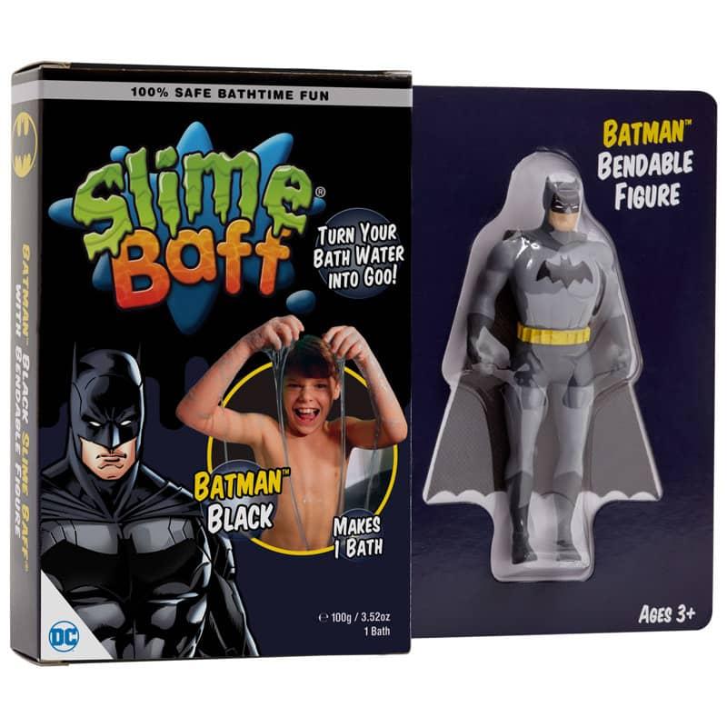 BATMAN NEGRO SLIME BAFF CON FIGURA FLEXIBLE UNIVERSO DC