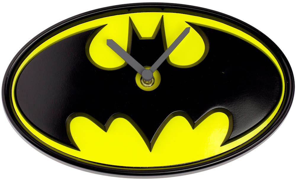 LOGO BATMAN RELOJ WOBBLE CLOCK UNIVERSO DC
