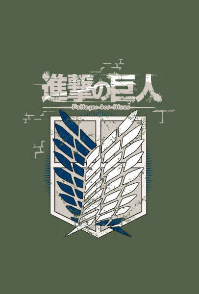 LOGO CAMISETA KAKI CHICO TALLA XL ATTACK ON TITAN