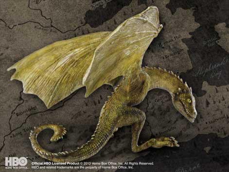 RHAEGAL BEBE DRAGON ESTATUA 11 CM RESINA,GAME OF THRONES