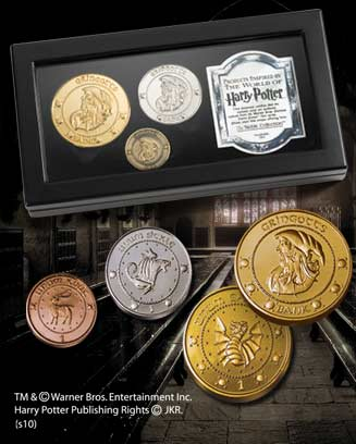 MONEDAS DE GRINGOTTS EN EXPOSITOR, HARRY POTTER