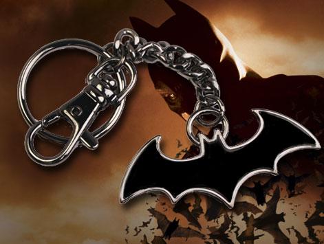 BATMAN EMBLEMA CLASICO NEGRO LLAVERO CON MOSQUETON, DC COMICS
