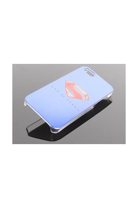 FUNDA PVC LOGO MAN OF STEEL AZUL LOGO IPHONE 5S MAN OF STEEL