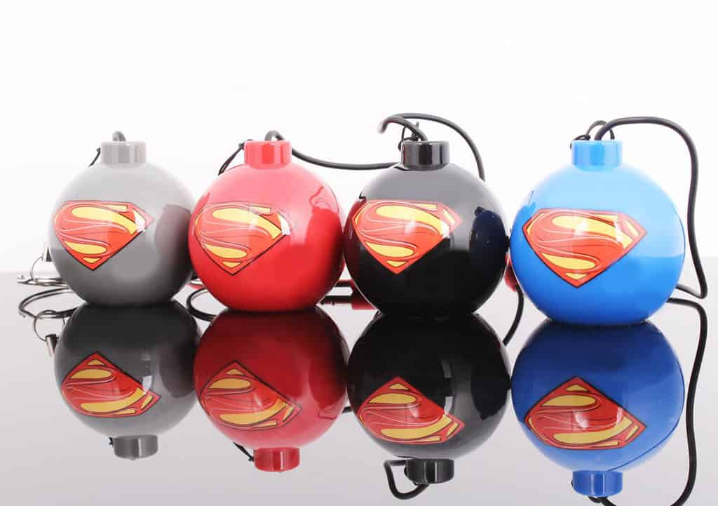 SUPERMAN LOGO NEGRO MINI ALTAVOZ BOMBA MAN OF STEEL
