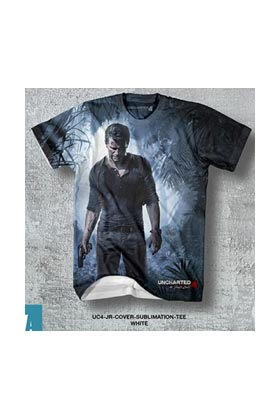 UC4 JR COVER SUBLIMATION TEE CAMISETA CHICO TALLA L UNCHARTED 4