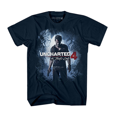 UC4 JR COVER TEE NAVY CAMISETA CHICO TALLA M UNCHARTED 4