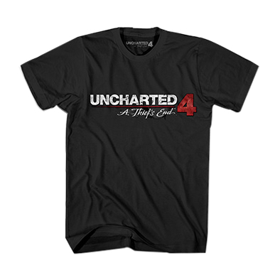 UC4 JR LOGO TEE BLACK CAMISETA CHICO TALLA XXL UNCHARTED 4