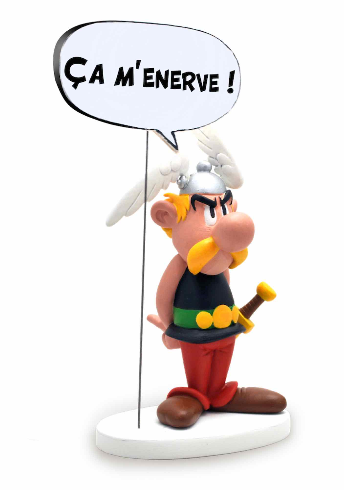 ASTERIX BOCADILLO 'ESO ME MOLESTA' FIGURA RESINA 15 CM ASTERIX COMIC SPEECH COLLECTION