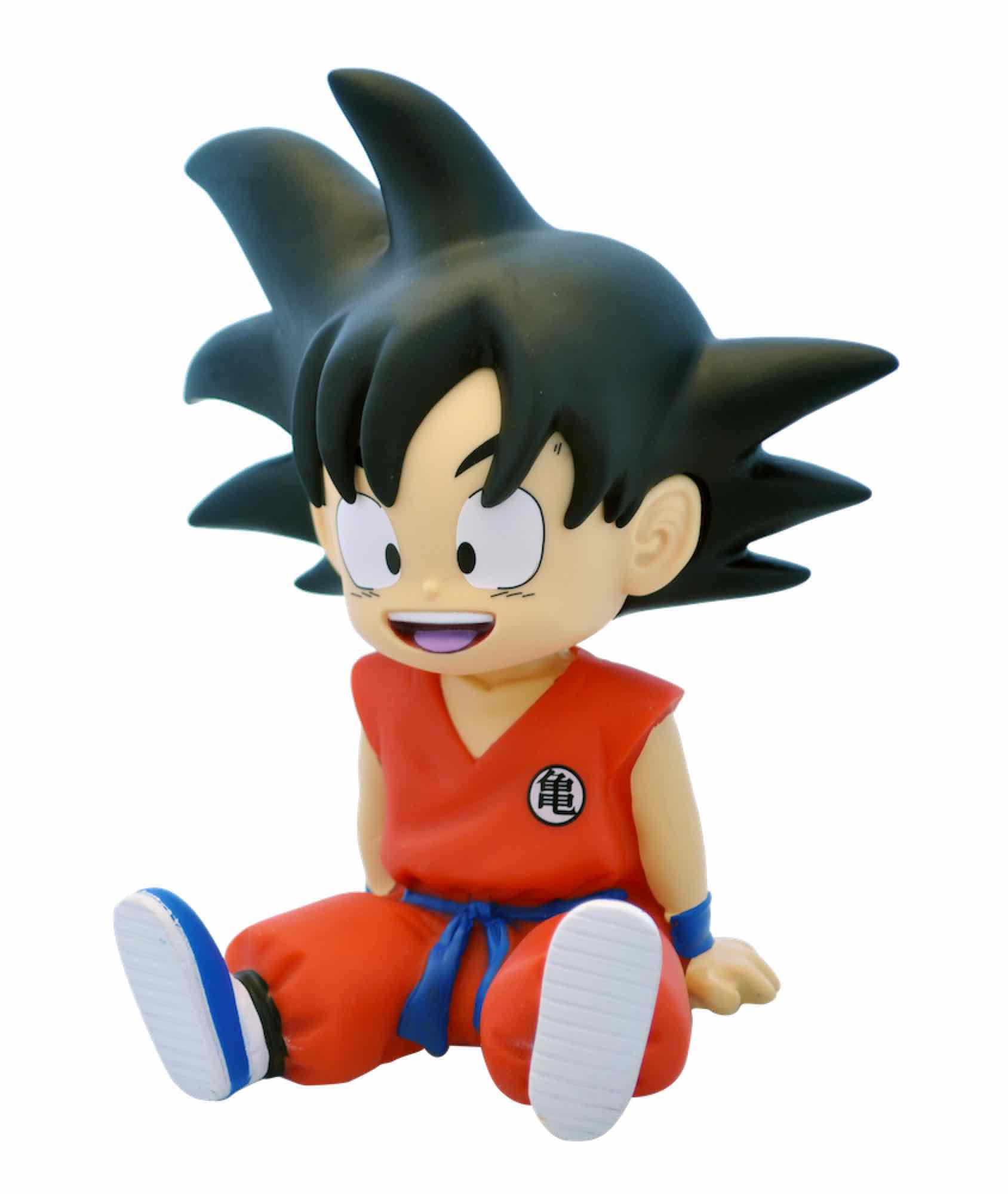 SON GOKU SENTADO MINI HUCHA 13,5 CM PVC DRAGON BALL