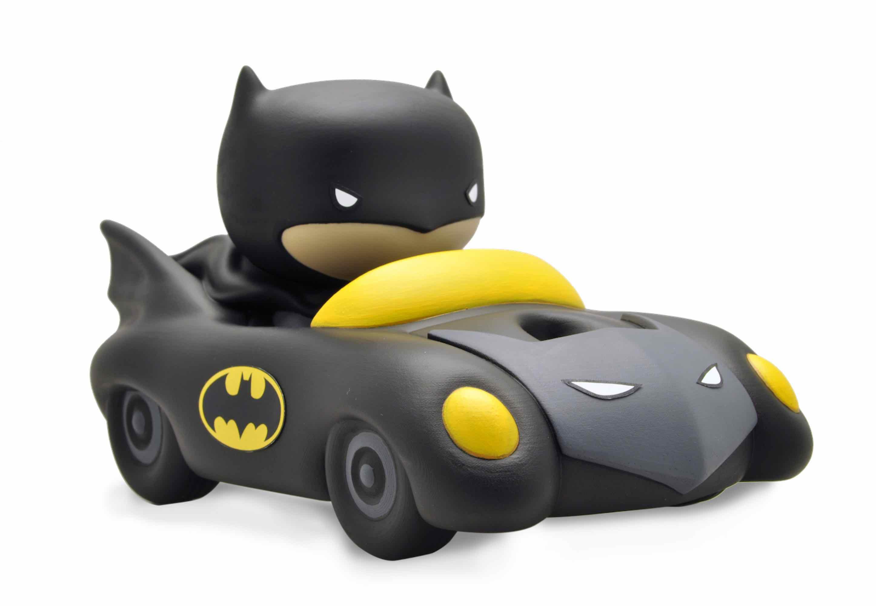 BATMAN Y BATMOVIL CHIBI HUCHA PVC JUSTICE LEAGUE DC COMICS