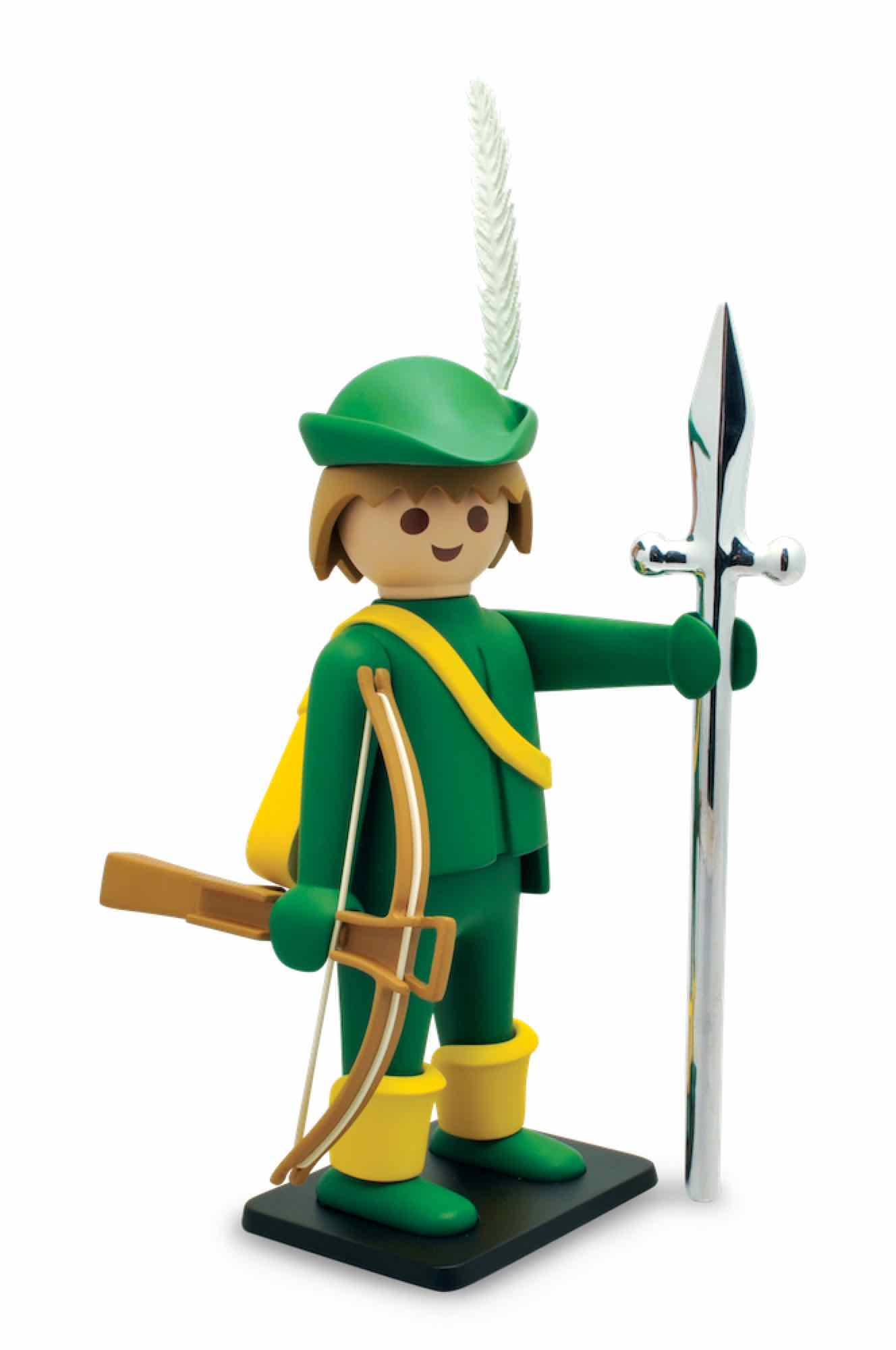 EL BALLESTERO VERDE ESTATUA ABS 25 CM PLAYMOBIL COLLECTOYS