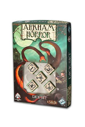 ARKHAM HORROR DADOS - BEIGE AND BLACK