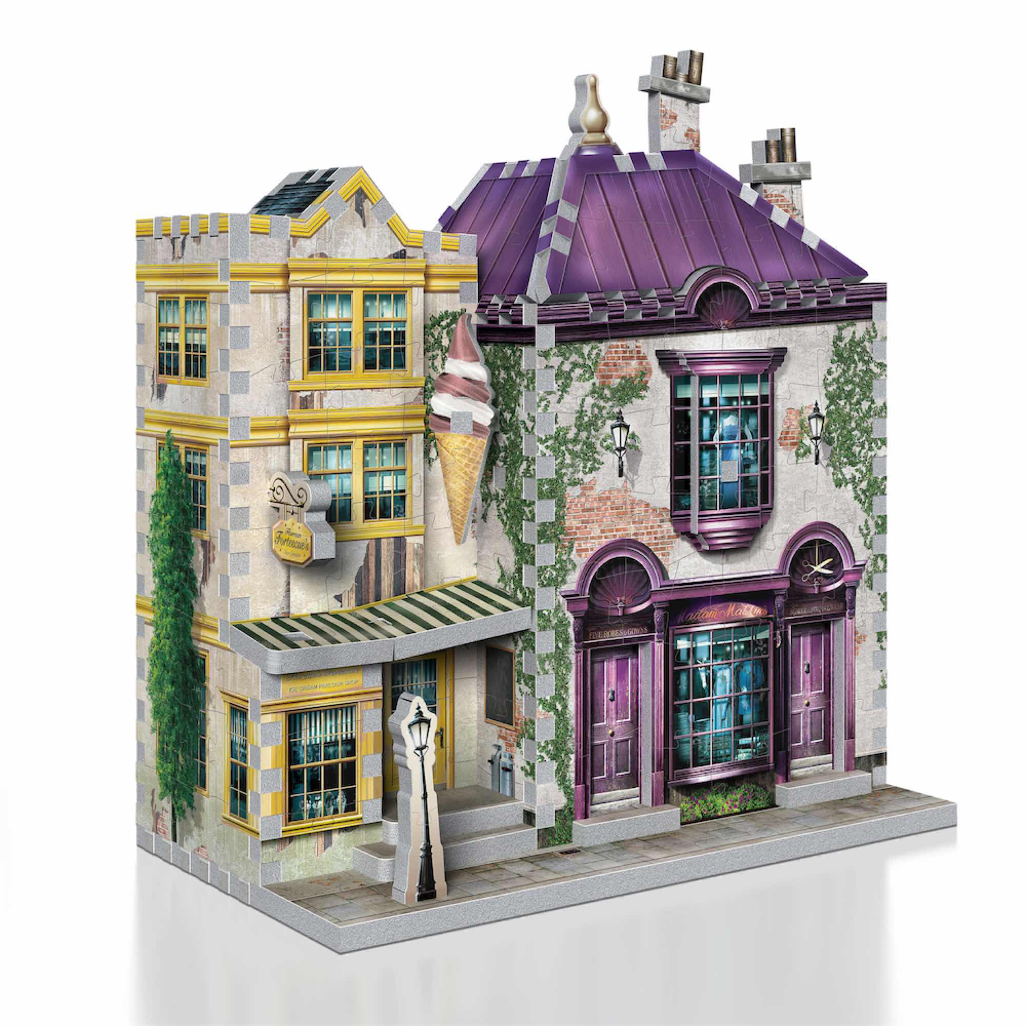 TIENDA MADAM MALKINS & HELADERIA FLOREAN FORTESCUE PUZLE 3D HARRY POTTER