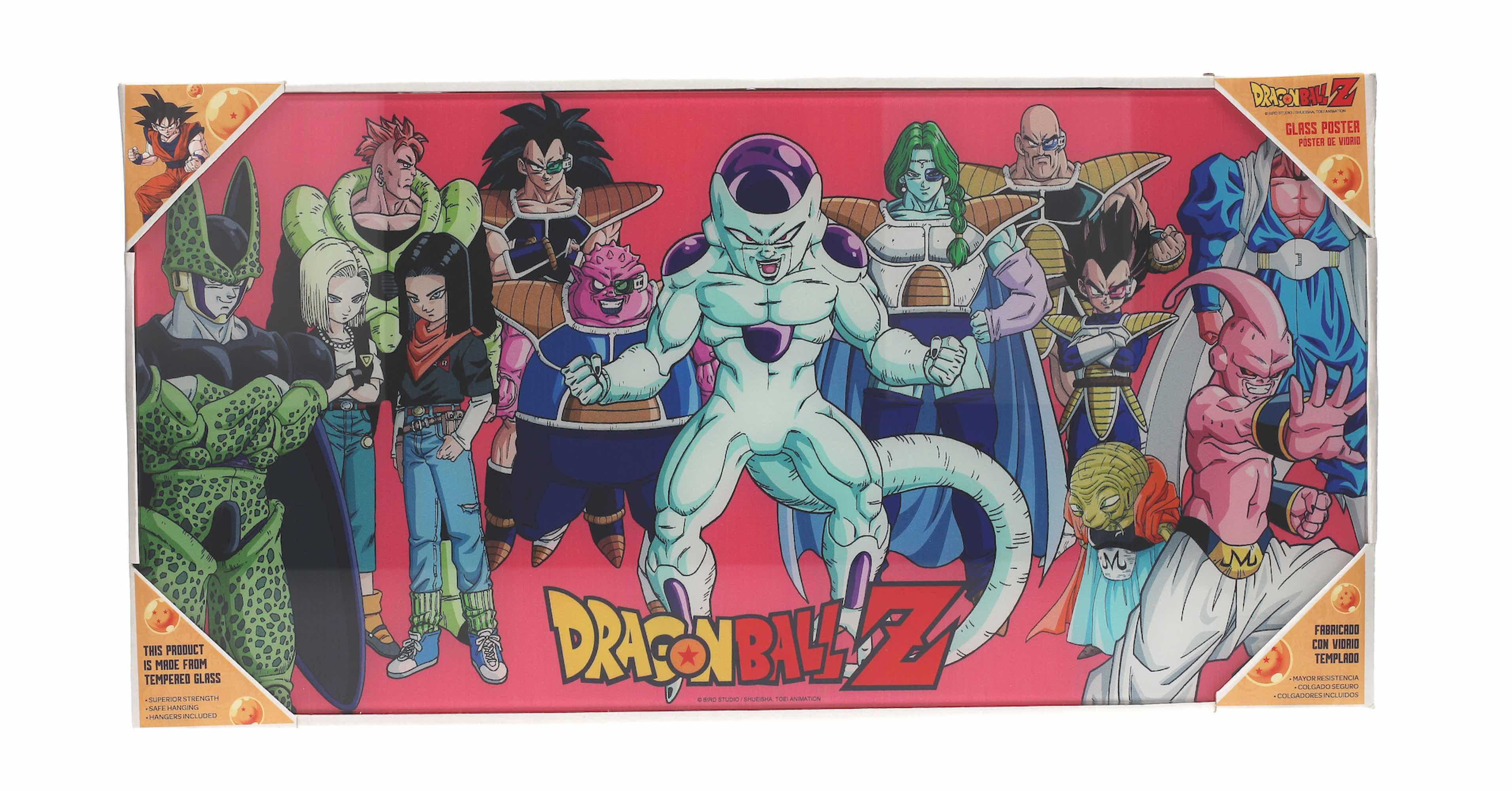 DRAGON BALL Z VILLANOS POSTER DE VIDRIO DRAGON BALL 60X30 CM