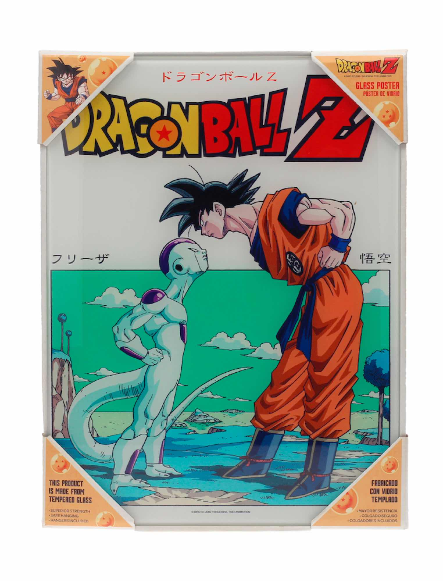 DRAGON BALL Z GOKU VS FREEZER POSTER DE VIDRIO DRAGON BALL 30X40 CM