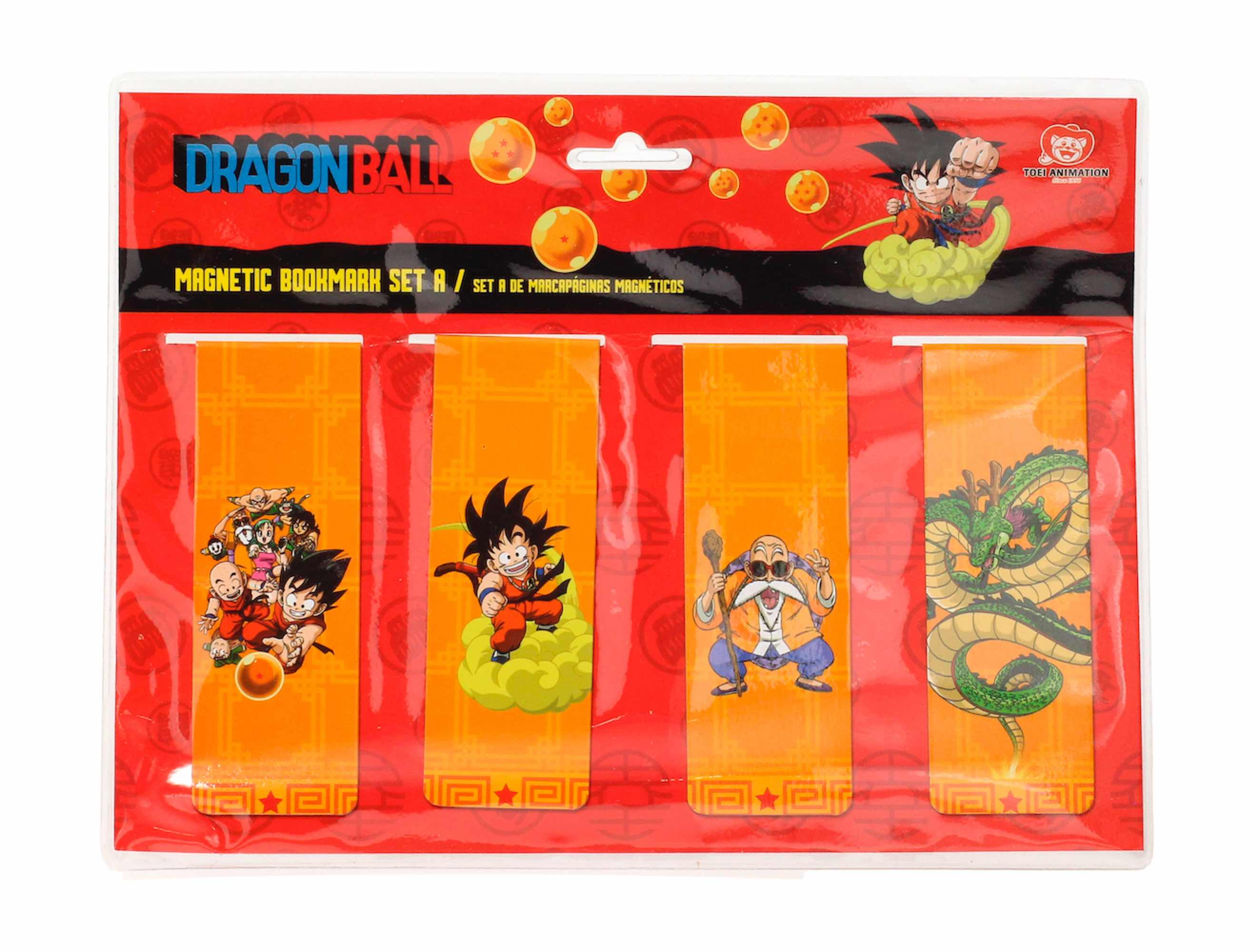 PERSONAJES DB SET A PUNTOS DE LIBRO MAGNETICOS DRAGON BALL