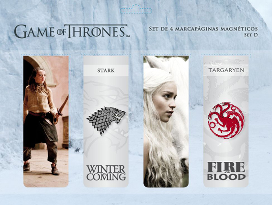 GAME OF THRONES SET D PUNTO DE LIBRO MAGNETICO GAME OF THRONES