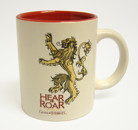 LANNISTER TAZA BLANCA ROJA CERAMICA GAME OF THRONES