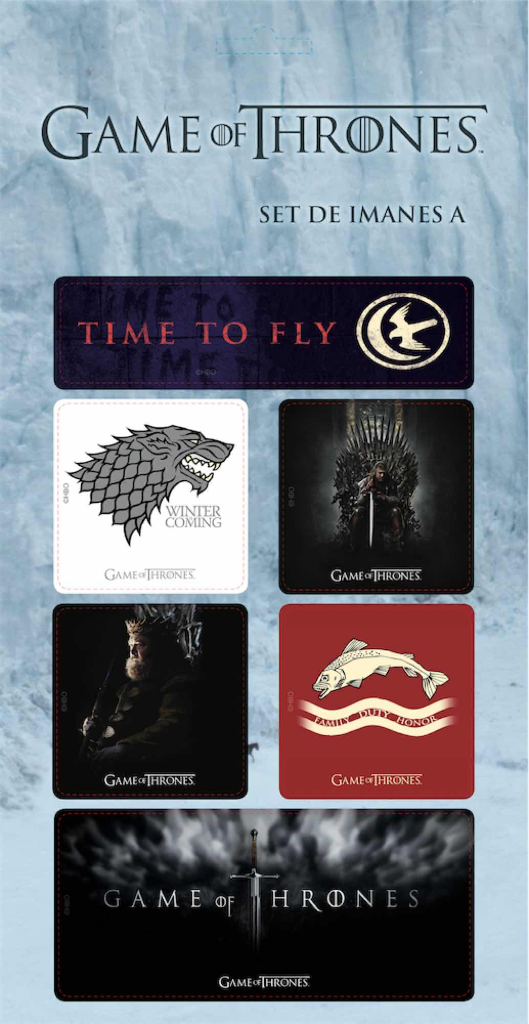 O.FLASH - GOT SET A IMANES GAME OF THRONES