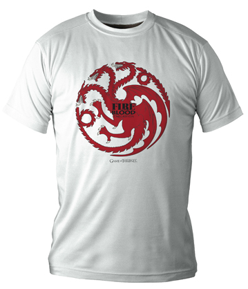 TARGARYEN CAMISETA BLANCA CHICO T-S GAME OF THRONES