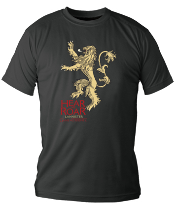 LANNISTER CAMISETA NEGRA CHICO T-S GAME OF THRONES