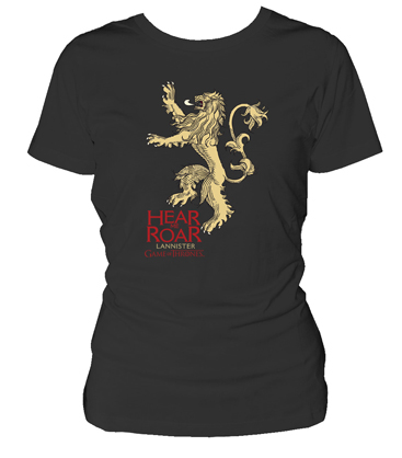 LANNISTER CAMISETA NEGRA CHICA T-XL GAME OF THRONES