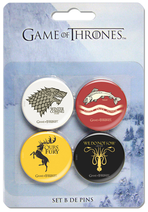 GAME OF THRONES SET B 4 PINS GAME OF THRONES