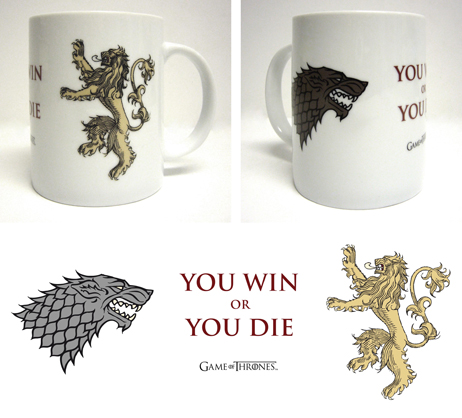 YOU WIN OR YOU DIE TAZA CERAMICA BLANCA GAME OF THRONES