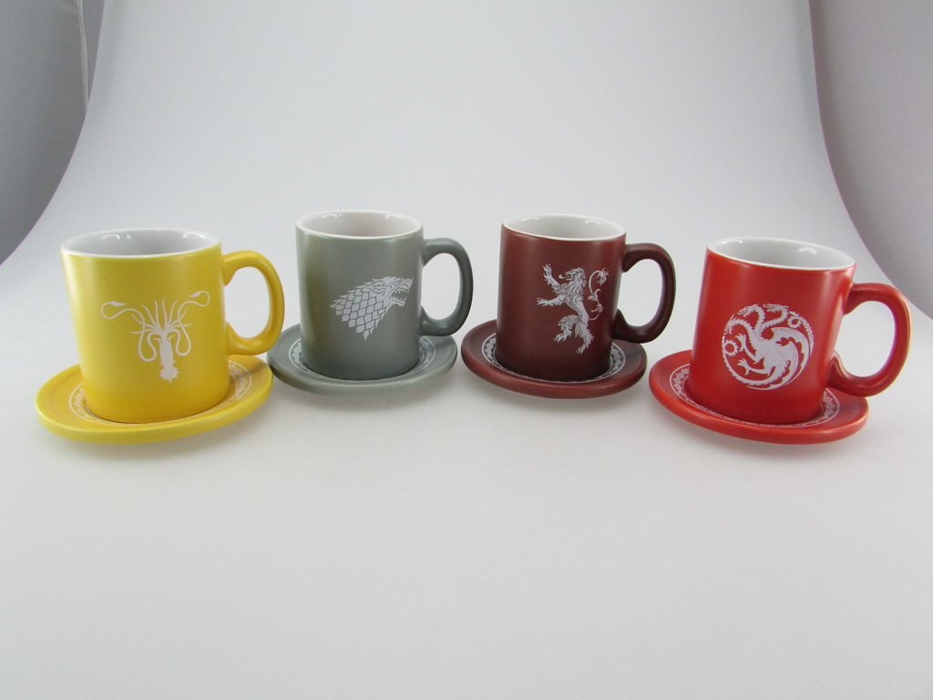 EMBLEMAS Y LEMAS SET 4 MINI TAZAS CAFE CERAMICA GAME OF THRONES