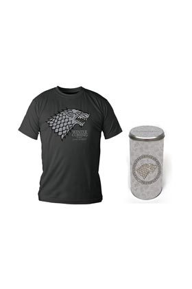 STARK CAMISETA NEGRA CHICO T-M EDICION DELUXE GAME OF THRONES