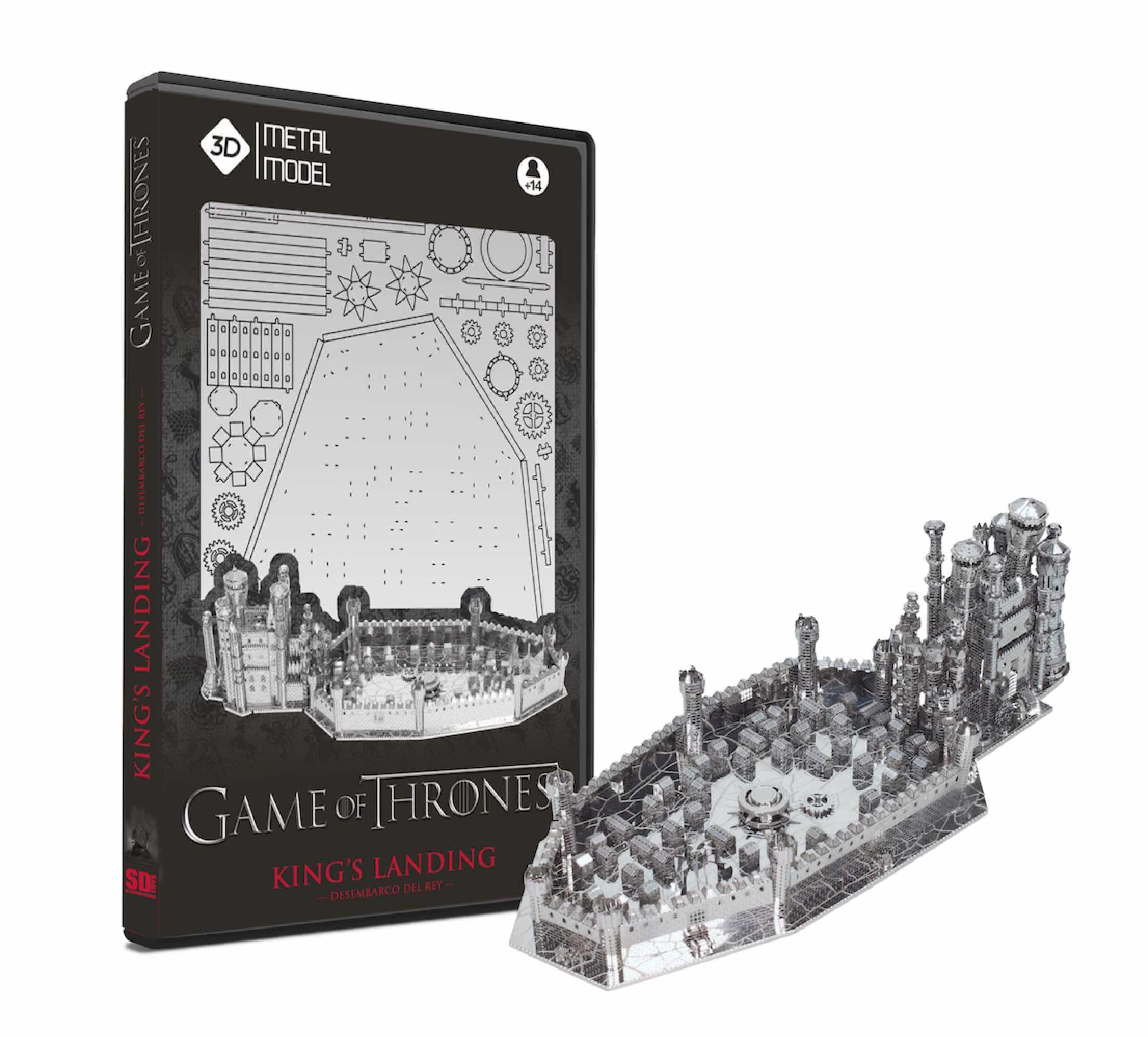 DESEMBARCO DEL REY (KING'S LANDING) METAL MODEL KIT 3D GAME OF THRONES