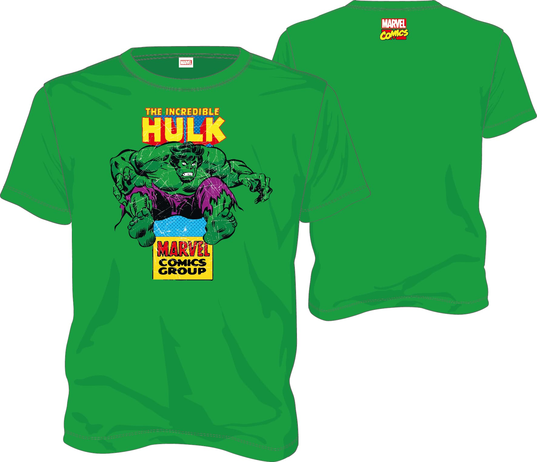 HULK CAMISETA VERDE CHICO T-L MARVEL COMICS